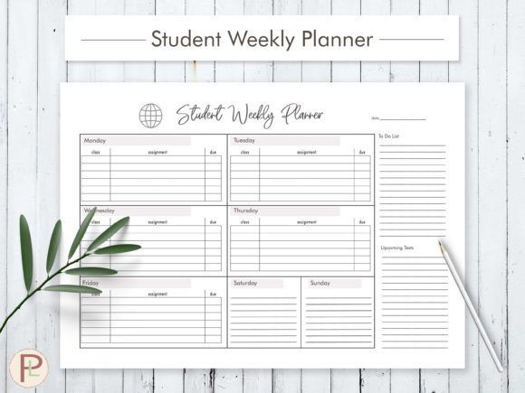 Student Weekly Planner Template Student Weekly Planner Graphic by Helartshop · Creative