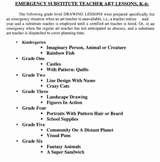 Sub Lesson Plan Template Elementary Music Sub Plans Unique Art and Music Sub Plan