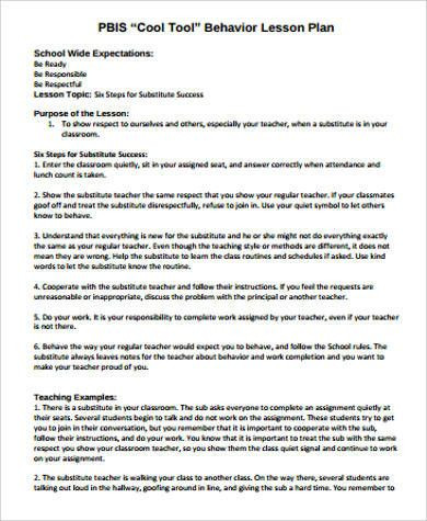 Sub Lesson Plan Template Substitute Teacher Lesson Plan Template Elegant Sample