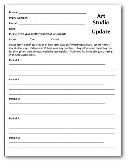 Sub Lesson Plan Template Substitute Teacher Lesson Plan Template Fresh Creating A