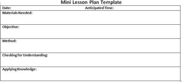 Sub Plans Template 10 Lesson Plan Templates Free Download