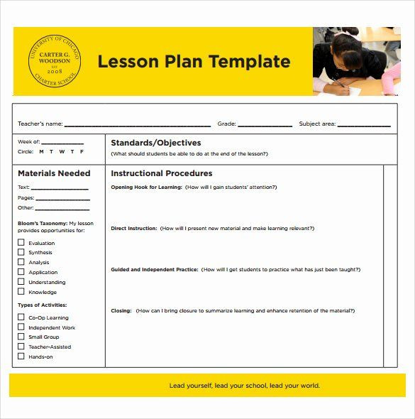 Substitute Lesson Plan Template Creating A Lesson Plan Template Elegant Sample Printable