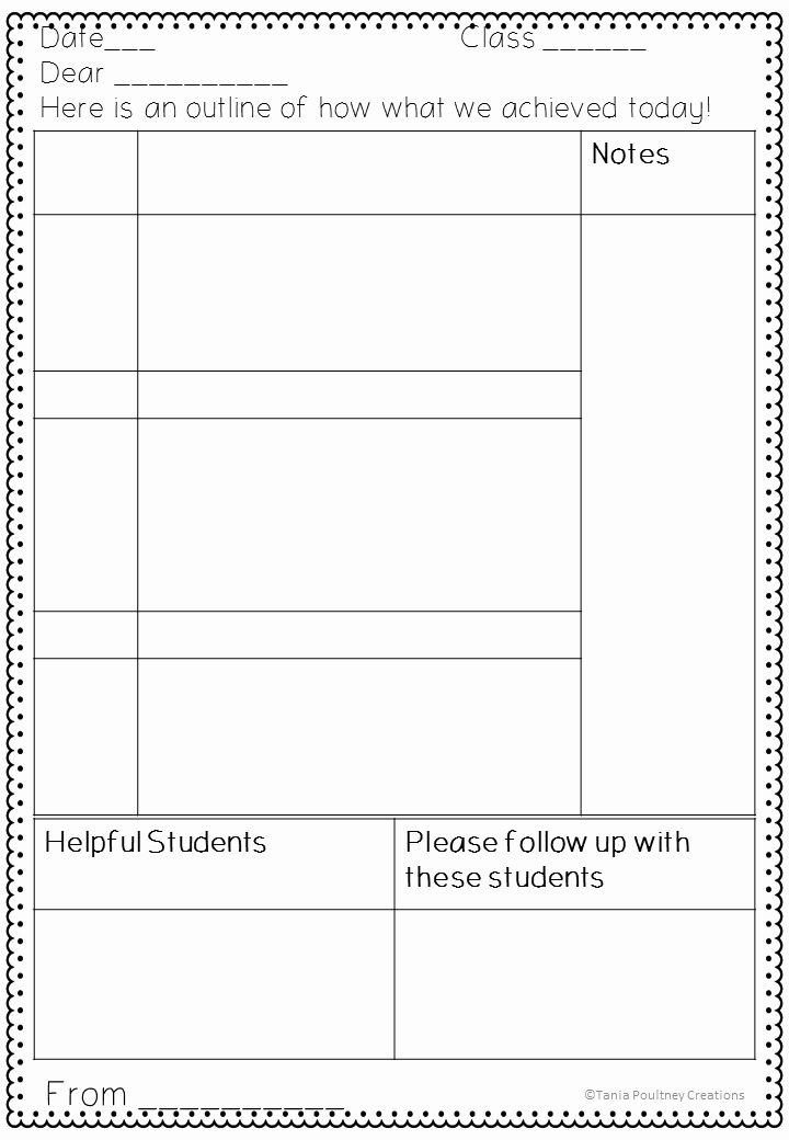 Substitute Teacher Lesson Plan Template Substitute Teacher Plans Template Luxury Free Printable