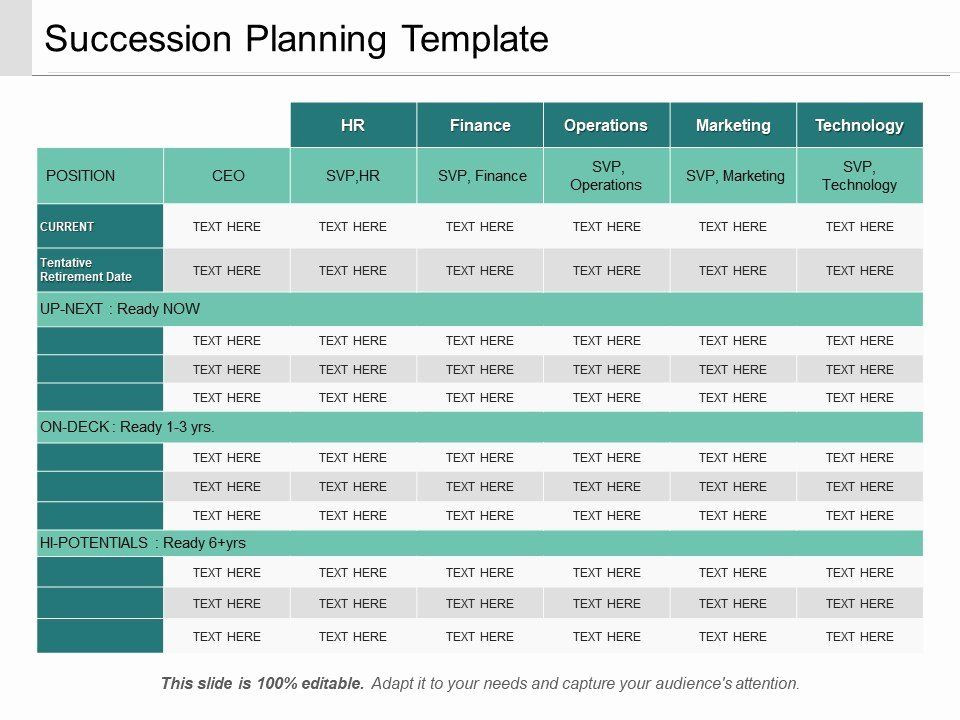 Succession Planning Template Excel Succession Planning Template Excel Luxury Succession