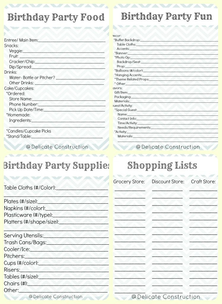 Sweet 16 Party Planning Template Birthday Party Plan Printables 749—1 024 Pxeles