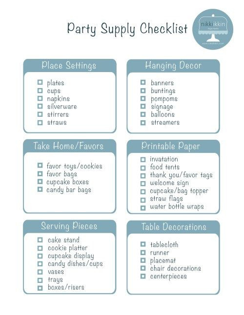 Sweet 16 Party Planning Template How I Begin Planning A Birthday Party