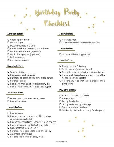 Sweet 16 Party Planning Template Pin On Party Planning Checklist