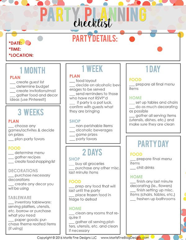 Sweet 16 Party Planning Template Pin On top Party & Holiday Ideas