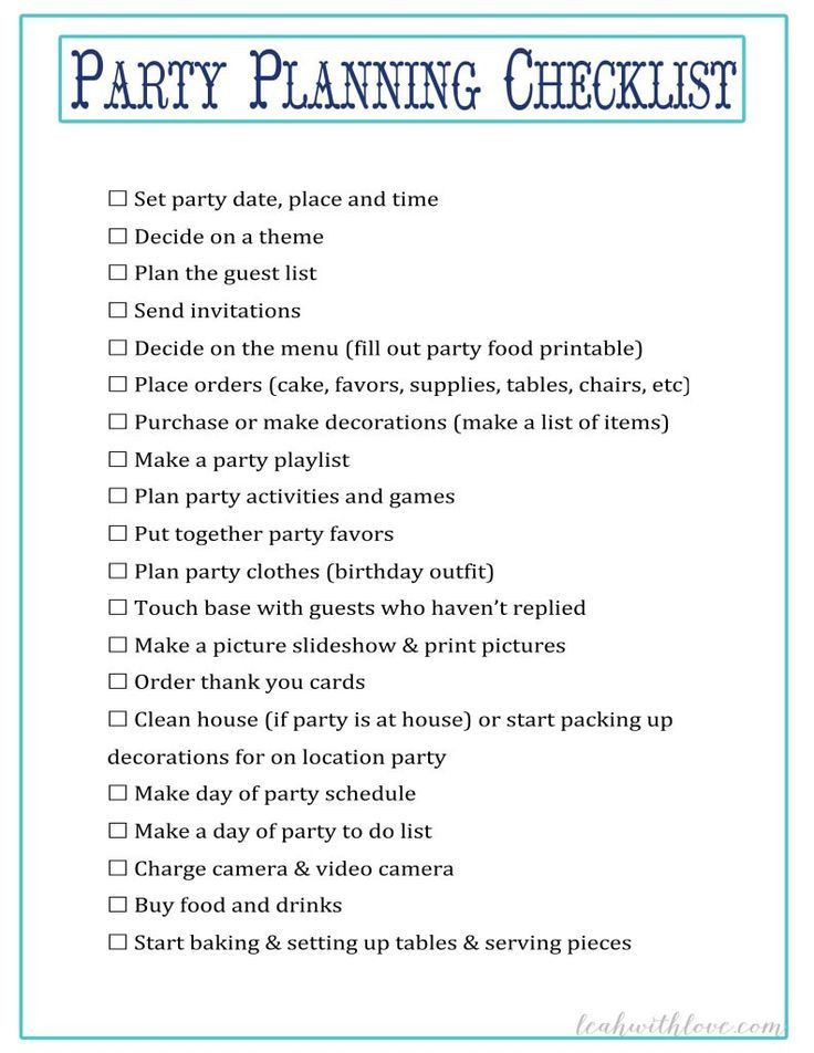 Sweet 16 Party Planning Template Sweet 16 Party Planning Checklist
