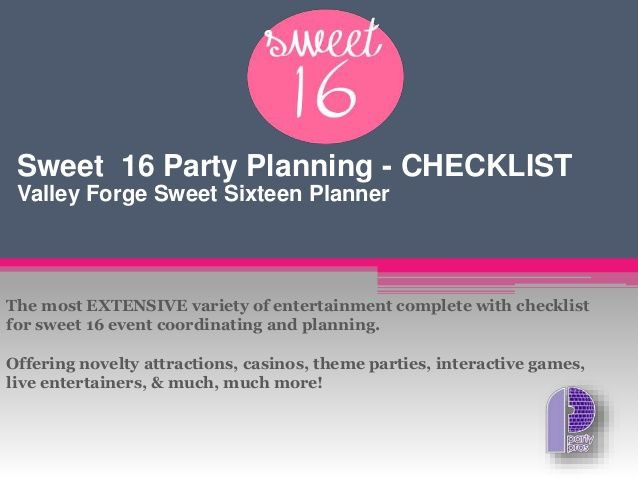 Sweet 16 Party Planning Template Sweet 16 Party Planning with Checklist