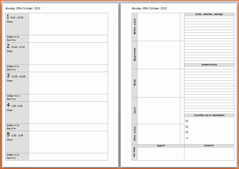 Teacher Daily Planner Template Teacher Weekly Planner Template Download New Teacher Planner
