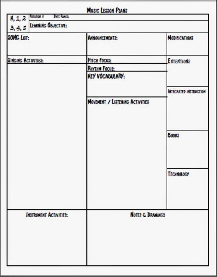Teacher Day Plan Template Melodysoup Blog Music Lesson Plan Template