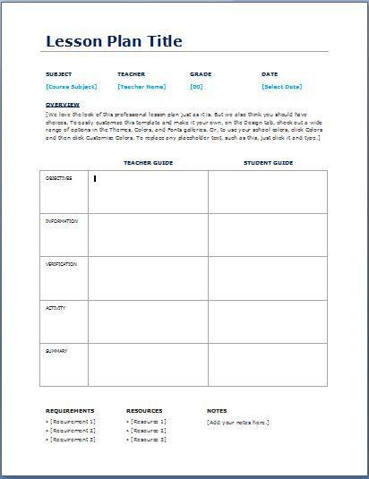Teacher Day Plan Template Teacher Daily Lesson Planner Template