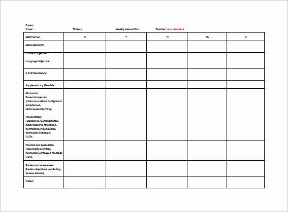 Teacher Day Plan Template Teacher Day Plan Template Lovely Free Weekly Lesson Plan