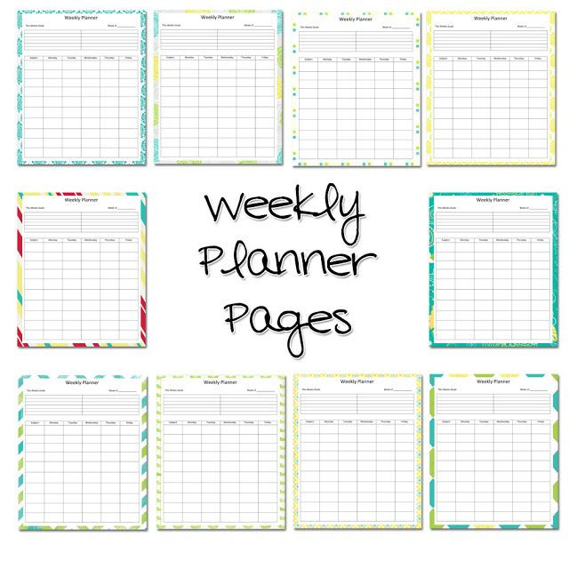 Teacher Lesson Plan Book Template Lawteedah Weekly Lesson Planner Printable