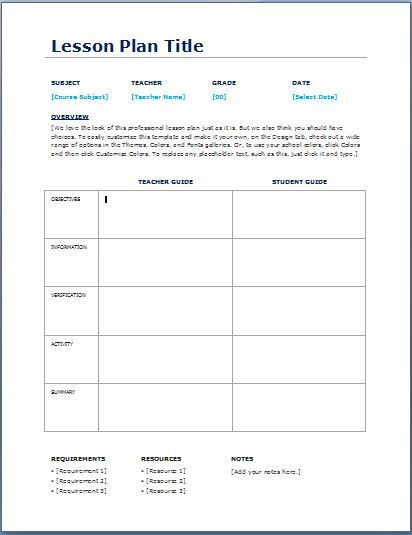 Teacher Lesson Plan Template Lesson Plan Template for Teachers Elegant Teacher Daily