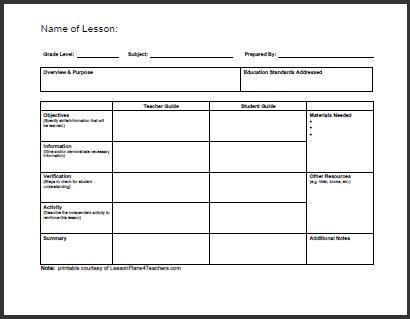 Teacher Lesson Plans Template Daily Lesson Plan Template 1