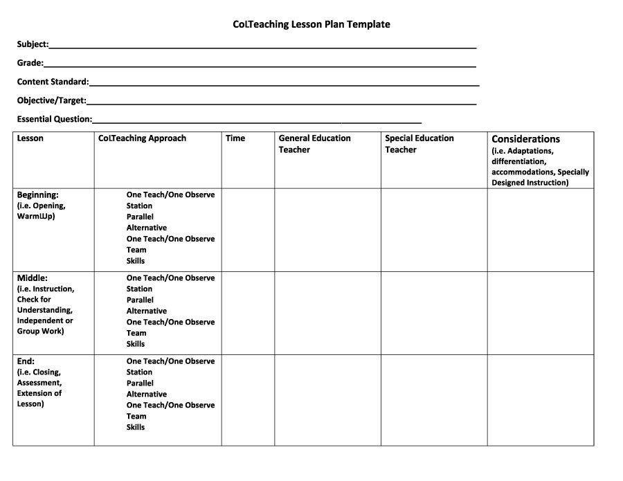 Teacher Lesson Plans Template Preschool Lesson Plans Template Free Inspirational 44 Free