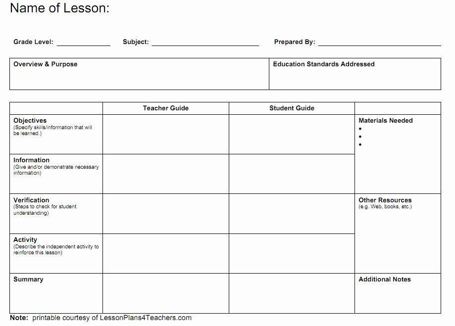 Teachers College Lesson Plan Template Teachers College Lesson Plan Template Unique Blank Lesson