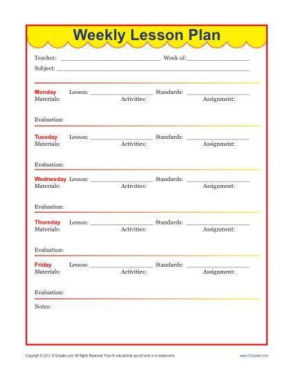 Teachers Lesson Plan Template Pin On Lesson Plans