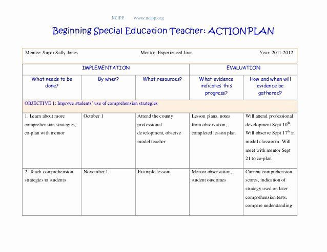 Teaching Action Plan Template Educational Action Plan Template Fresh Action Plan In 2020