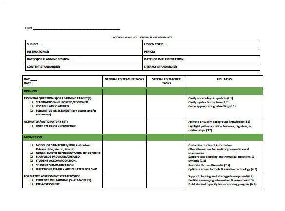 Teaching Lesson Plan Template Teacher Lesson Plan Template Pdf Best Teacher Lesson Plan