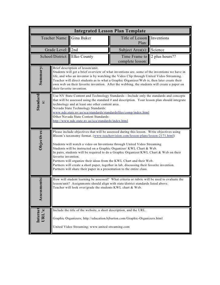 Teaching Strategies Lesson Plan Template Blended Learning Lesson Plan Template Doc