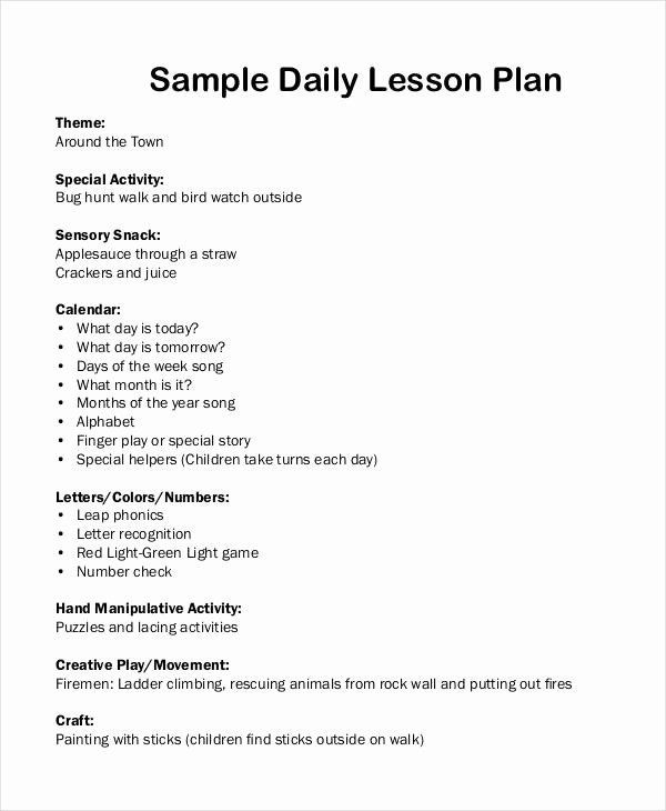 Teks Lesson Plan Template Teks Lesson Plan Template Fresh Free 62 Lesson Plan Examples