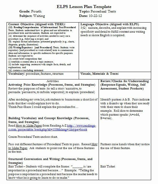 Teks Lesson Plan Template Teks Lesson Plan Template Fresh Teks Lesson Plan Template