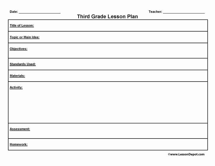 Third Grade Lesson Plan Template Art Lesson Plans Template Awesome Third Grade Lesson Plan