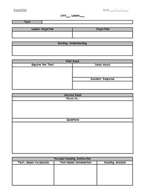 Third Grade Lesson Plan Template Ready Gen Reading Lesson Plan Template From Marisa Jade On