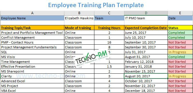 Training Plan Template Excel Download Employee Training Plan Template Lovely Employee Training