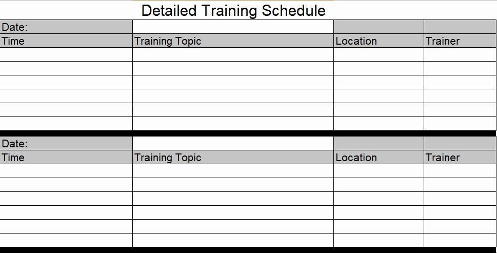 Training Plan Template Excel Download Employee Training Schedule Template Excel Lovely Download
