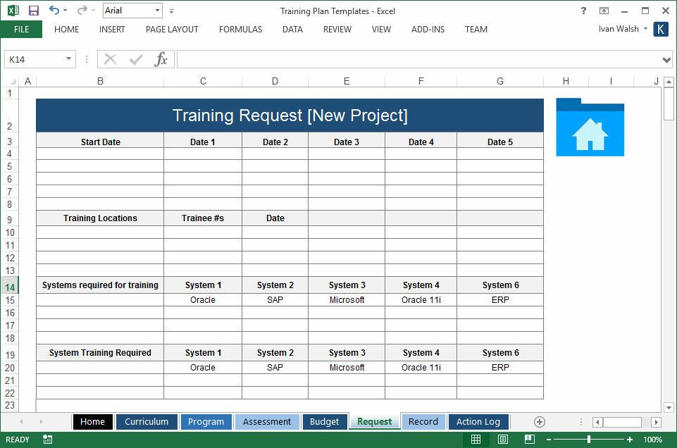 Training Plan Template Excel Download Training Plan Template Excel Best Training Plan Template
