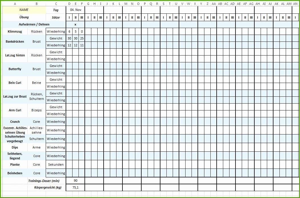 Training Plan Template Excel Download Trainingsplan Vorlage Excehübscher Trainingsplan Vorlage