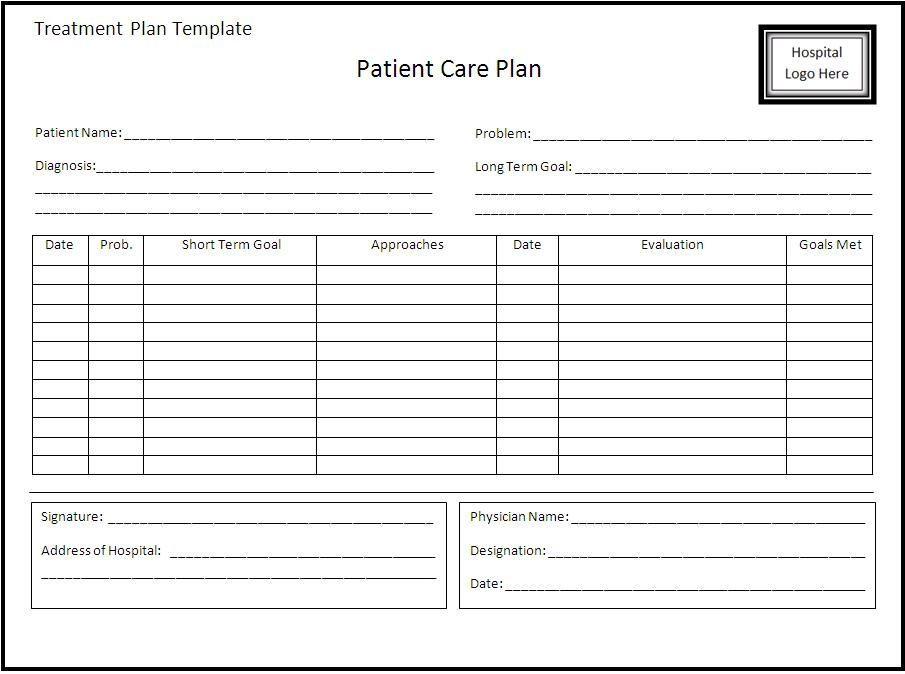 Treatment Plan Template Word Pin On Xfinity Bill Template