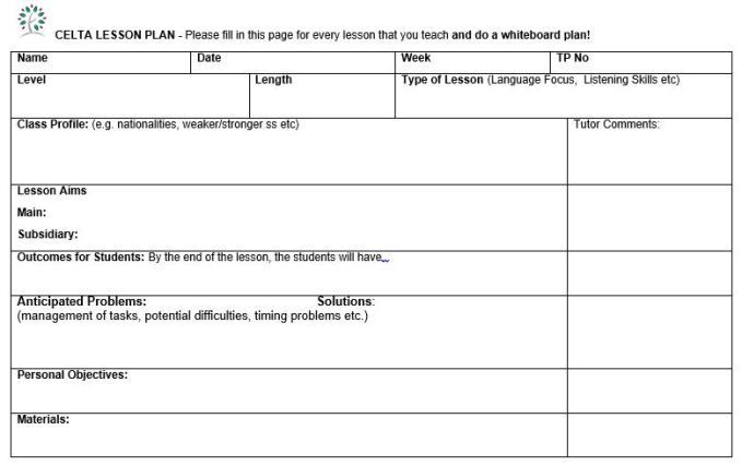 Tutoring Lesson Plan Template Lesson Template