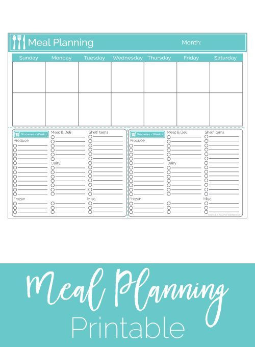 Two Week Meal Plan Template How I organize My Meal Planning and Grocery Shopping with
