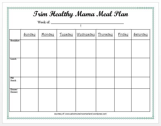Two Week Meal Plan Template Meal Planning 101 with Printables