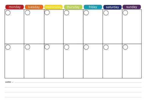 Two Week Meal Plan Template More Free Printable Menu Plans Picklebums