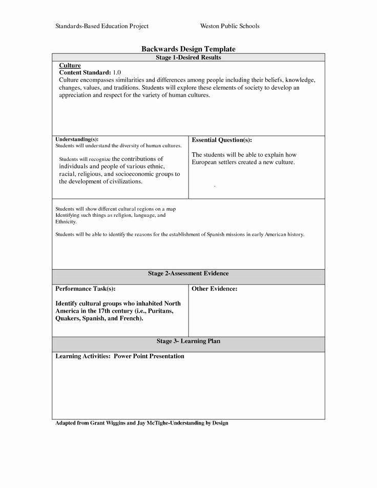 Ubd Lesson Plan Template Doc Backwards Design Lesson Plan Template Backwards Lesson