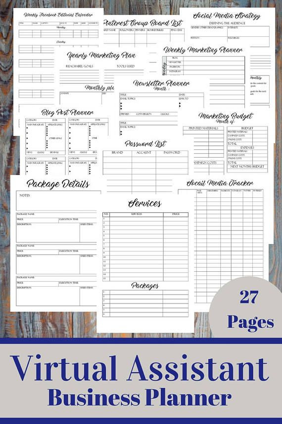 Virtual assistant Business Plan Template Pin On Pinterest Mini Mall Viral Board