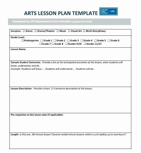 Visual Arts Lesson Plan Template Ubd Unit Plan Template New Ubd Template Blank Blank Unit