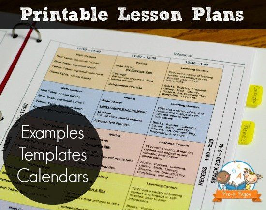 Vpk Lesson Plan Template Pin On Line Project Planning Templates