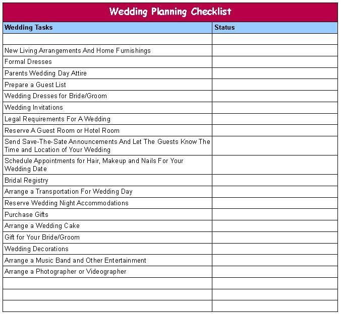 Wedding Plan Template Excel Wedding Planning Checklists On Wedding Plans Wedding Plan