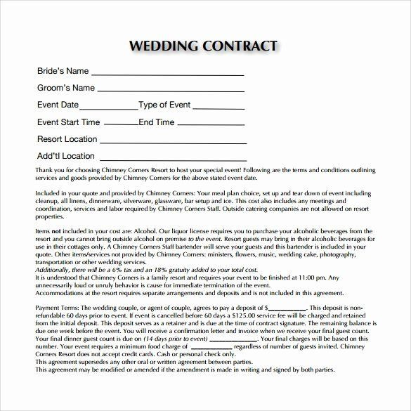 Wedding Planner Contract Template Free Wedding Planner Contract Template Free Awesome Wedding