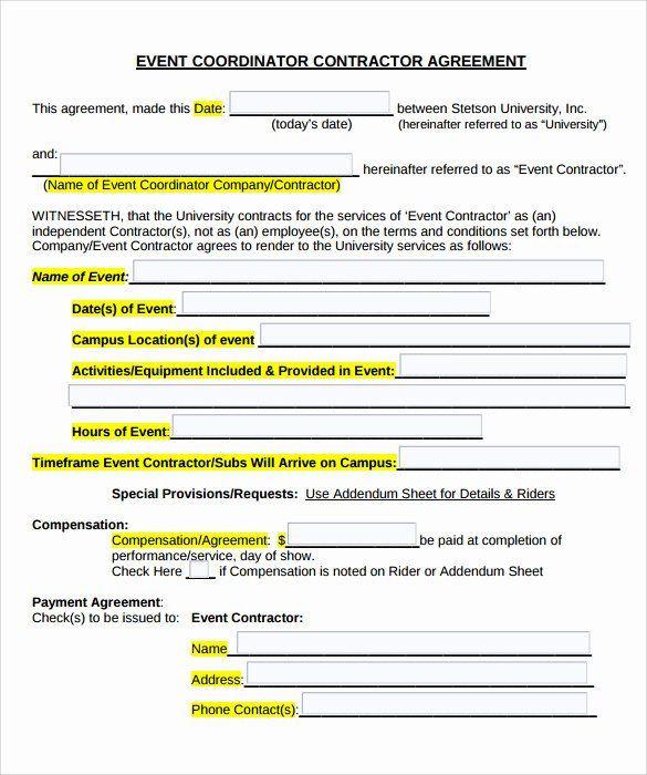 Wedding Planner Contract Template Free Wedding Planner Contract Template Free Best event