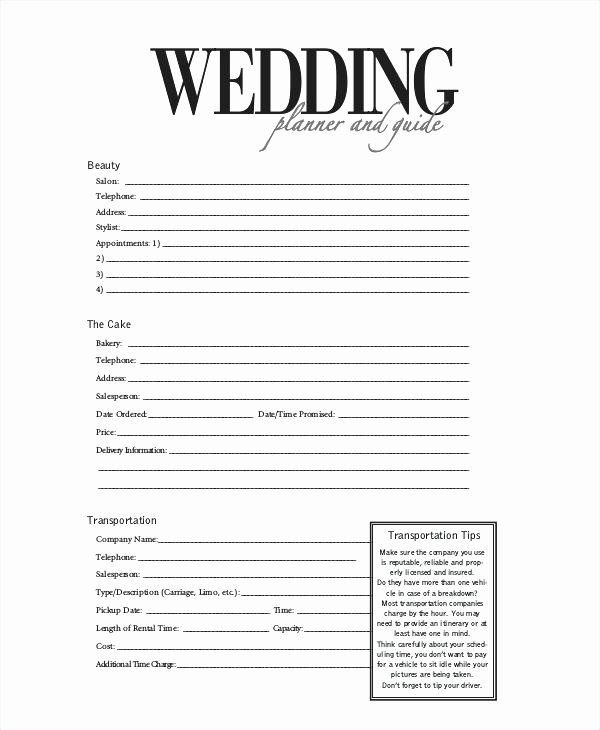 Wedding Planner Contract Template Free Wedding Planner Contract Template Free Inspirational Party