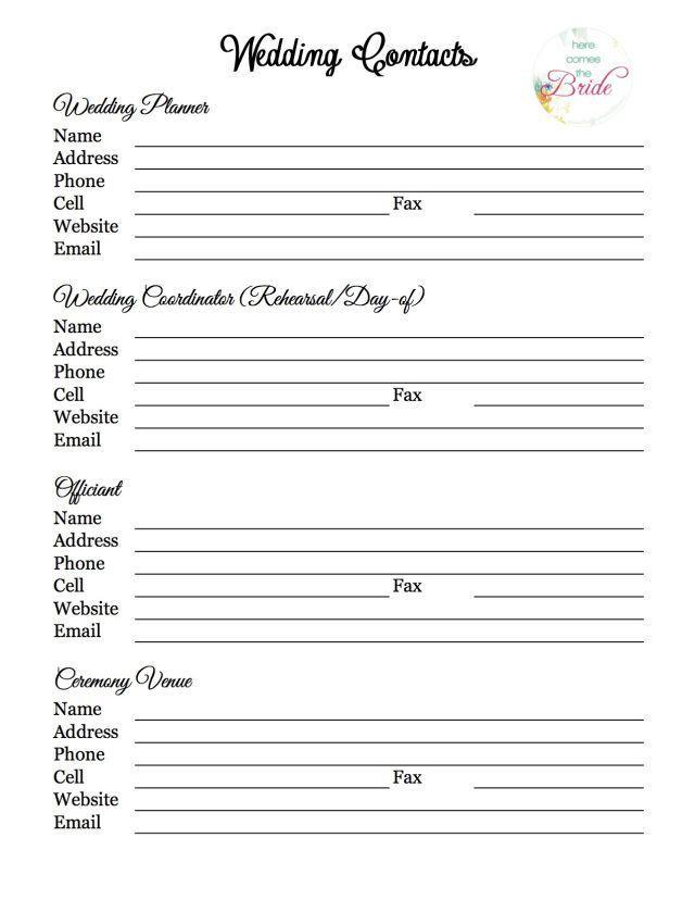 Wedding Planner Questionnaire Template organisation De Mariage Liste Des Fournisseurs
