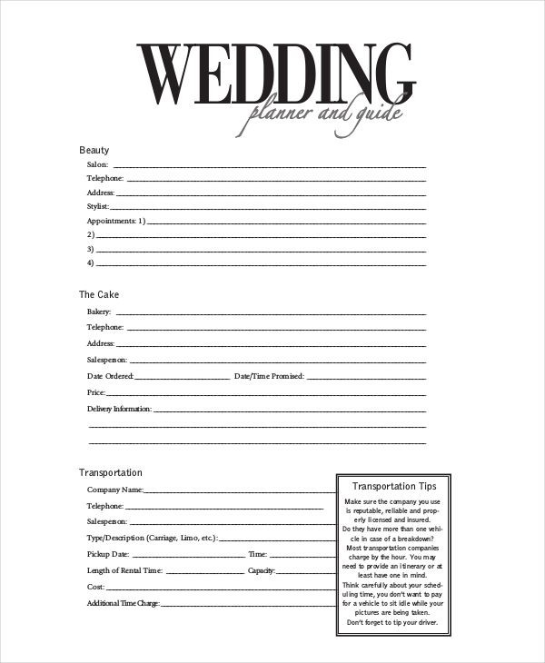 Wedding Planner Questionnaire Template Sample Consultation Agreement Check More at S